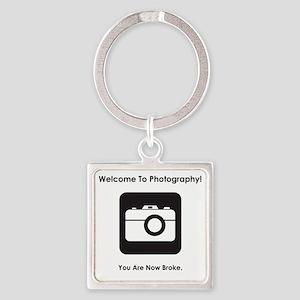 PhotoBroke Black Square Keychain