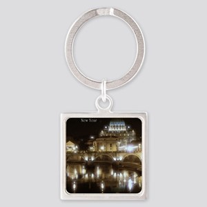 (5x7) St Peters across the Tiber a Square Keychain