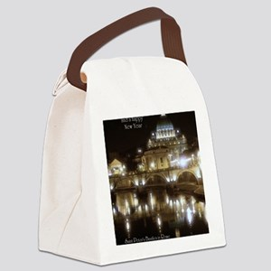 (5x7) St Peters across the Tiber  Canvas Lunch Bag