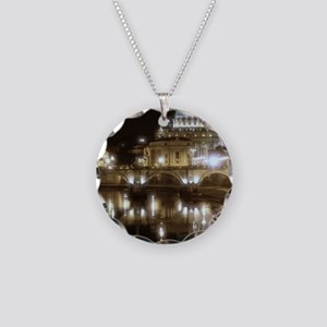 (5x7) St Peters across the T Necklace Circle Charm