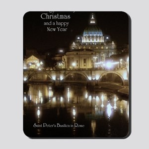 (5x7) St Peters across the Tiber at nigh Mousepad