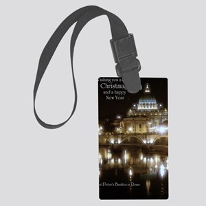 (5x7) St Peters across the Tiber Large Luggage Tag