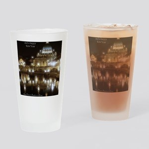 (5x7) St Peters across the Tiber at Drinking Glass