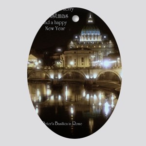 (5x7) St Peters across the Tiber at  Oval Ornament