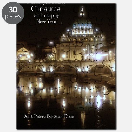(5x7) St Peters across the Tiber at night Puzzle