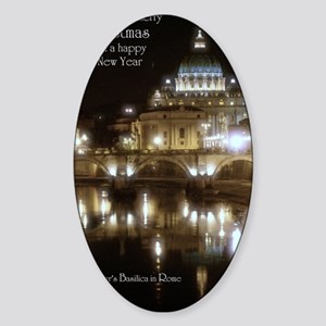 (5x7) St Peters across the Tiber at Sticker (Oval)