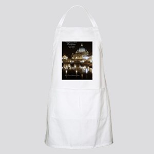 (5x7) St Peters across the Tiber at night Apron