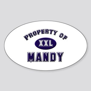 Property of mandy Oval Sticker