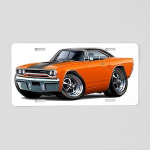 1970 Roadrunner Orange-Blac Aluminum License Plate