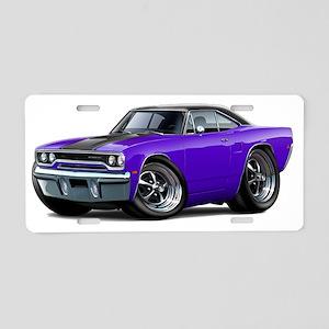 1970 Roadrunner Purple-Blac Aluminum License Plate