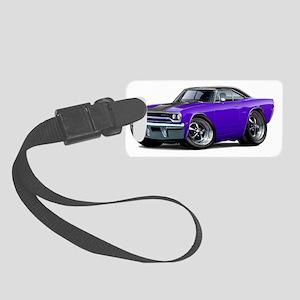 1970 Roadrunner Purple-Black Top Small Luggage Tag