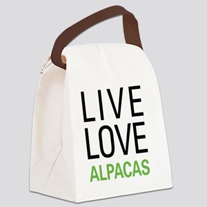livealpaca Canvas Lunch Bag
