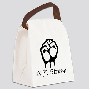 Blk_U.P._Strong_Power_Fist Canvas Lunch Bag