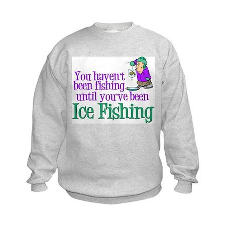 Ice Fishing Kids Sweatshirt