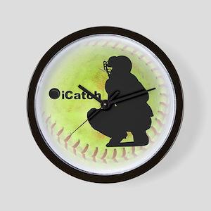 iCatch Fastpitch Softball Wall Clock