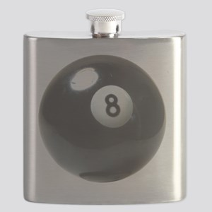 8 ball ornament Flask