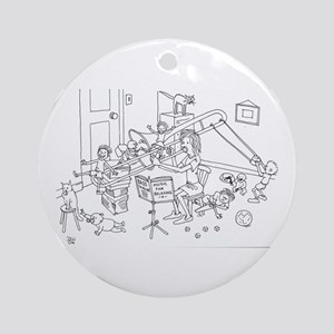 Trombone Family Ornament (Round)