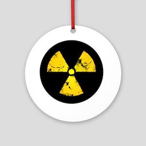 radiationSymbErodedBCC Round Ornament