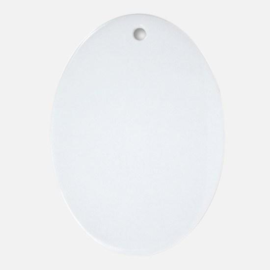 white_tau_cross Oval Ornament