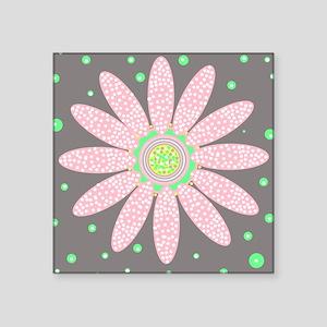 Daisy Dot pink and grey motif Sticker