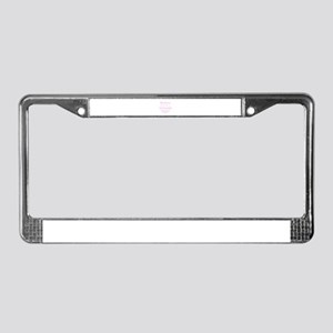 Mother of the Groom pink License Plate Frame