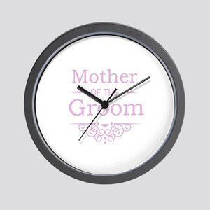 Mother of the Groom pink Wall Clock