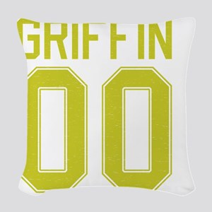 Griffin00-yellow Woven Throw Pillow