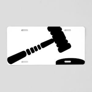 judge_hammer Aluminum License Plate