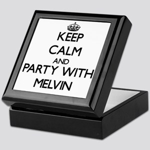 Keep Calm and Party with Melvin Keepsake Box