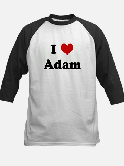I Love Adam Kids Baseball Jersey