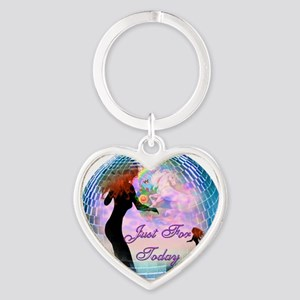 Just for today Heart Keychain