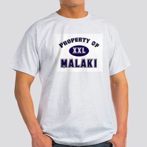 Property of malaki Ash Grey T-Shirt