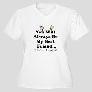 youwillalwaysbemy Women's Plus Size V-Neck T-Shirt