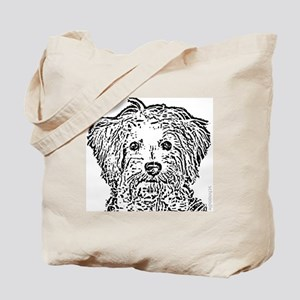 Schnoodle_bw Tote Bag