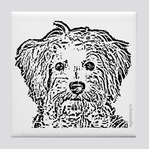 Schnoodle_bw Tile Coaster