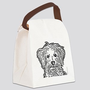 Schnoodle_bw Canvas Lunch Bag