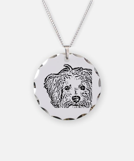 Schnoodle_bw Necklace Circle Charm