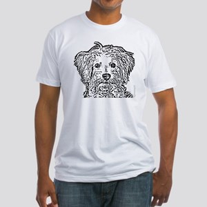 Schnoodle_bw Fitted T-Shirt