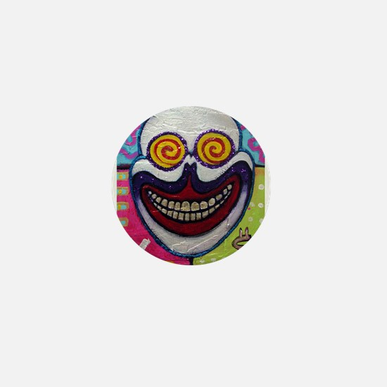 "Bickman ""Crazy Skull""  Mini Button (10 pack)"