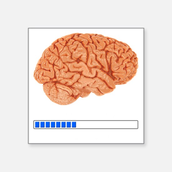 "Brain Loading b Square Sticker 3"" x 3"""