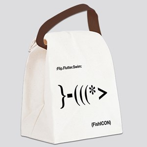 fishicon lights Canvas Lunch Bag