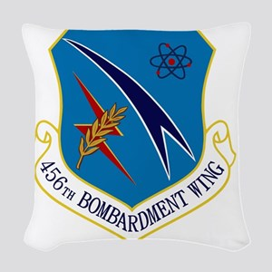 456th Bomb Wing Woven Throw Pillow