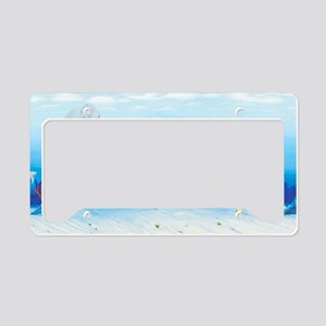 manatees-3-long License Plate Holder