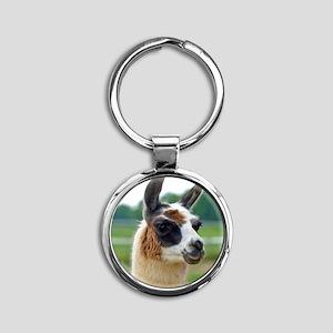 llama2_rnd Round Keychain