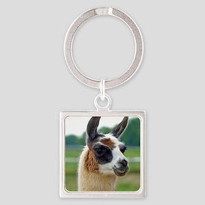 llama2_rnd Square Keychain