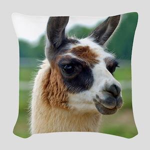 llama2_rnd Woven Throw Pillow