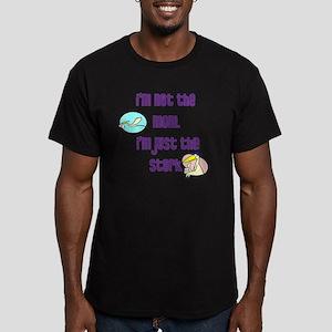 NotMomJustStork Men's Fitted T-Shirt (dark)