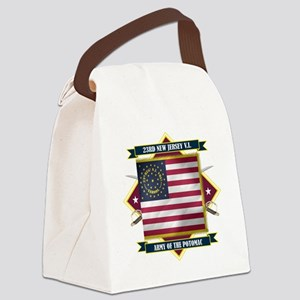 23rd New Jersey (Diamond) Canvas Lunch Bag
