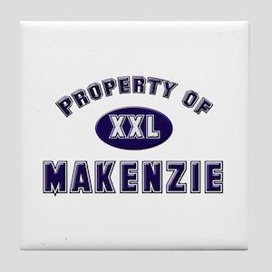 Property of makenzie Tile Coaster