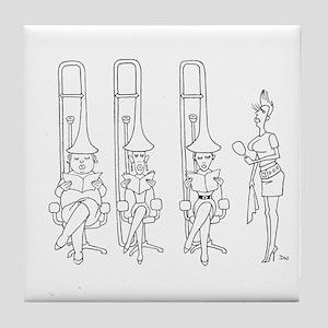 trombone Hair Driers Tile Coaster